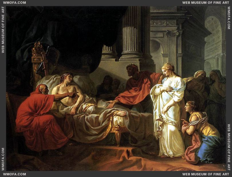 Antiochus and Stratonica 1774 by David, Jacques-Louis