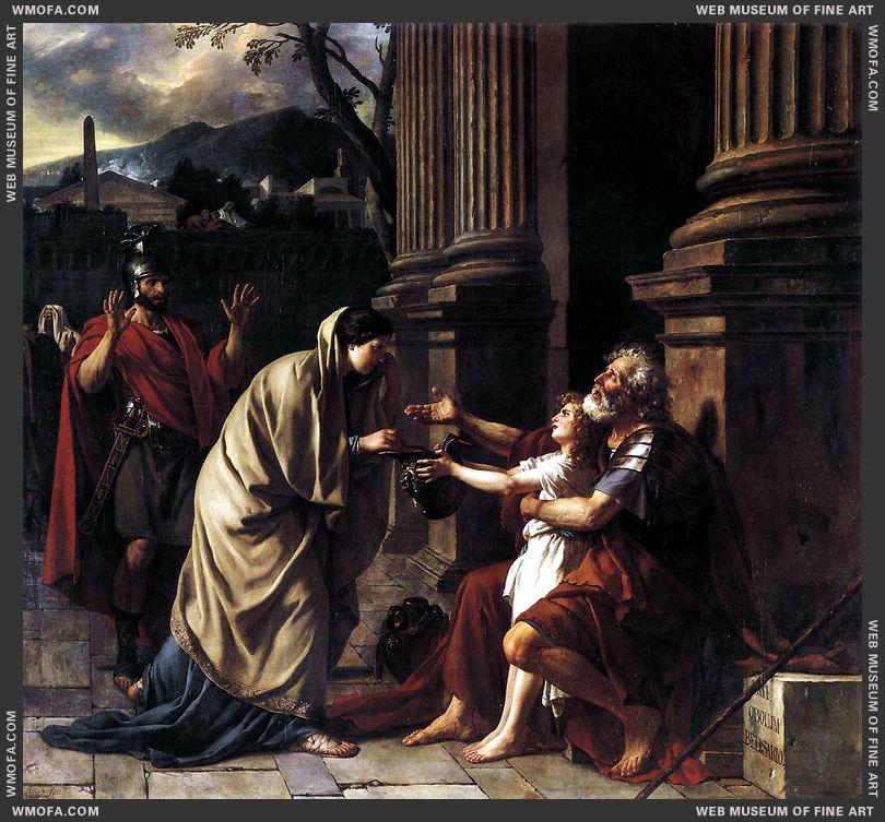 Belisarius Receiving Alms 1781 by David, Jacques-Louis