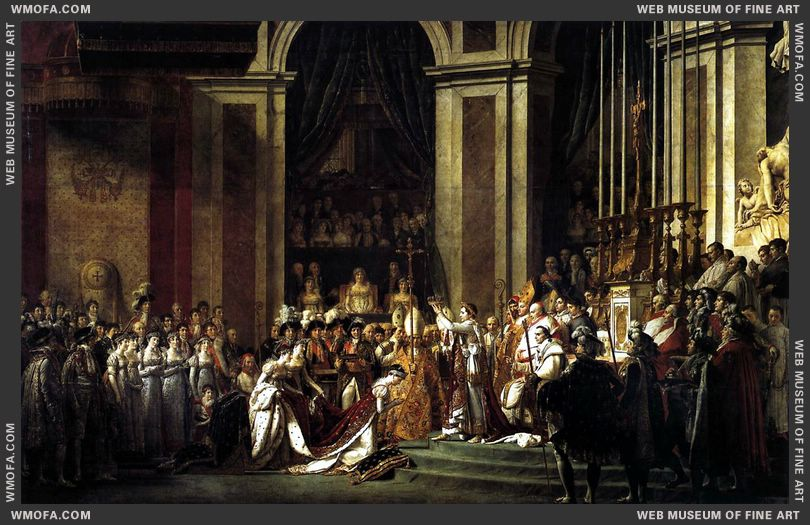 Consecration of the Emperor Napoleon I and Coronation of the Empress Josephine 1805-1807 by David, Jacques-Louis