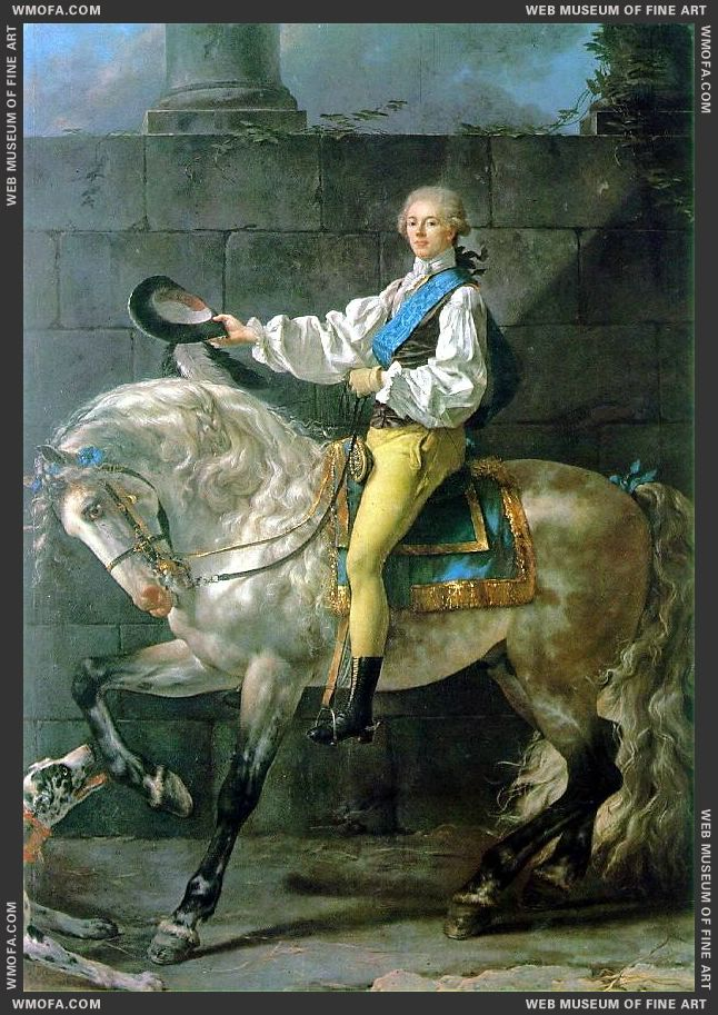 Count Potocki 1780-1781 by David, Jacques-Louis