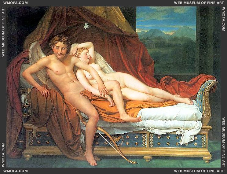 Cupid and Psyche 1817 by David, Jacques-Louis