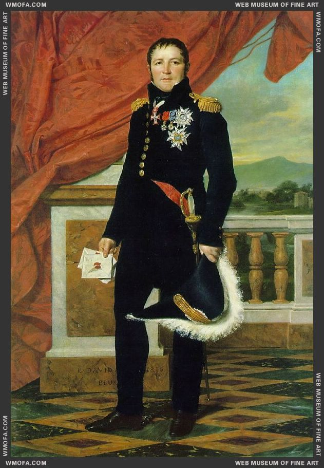 General Gerard 1816 by David, Jacques-Louis