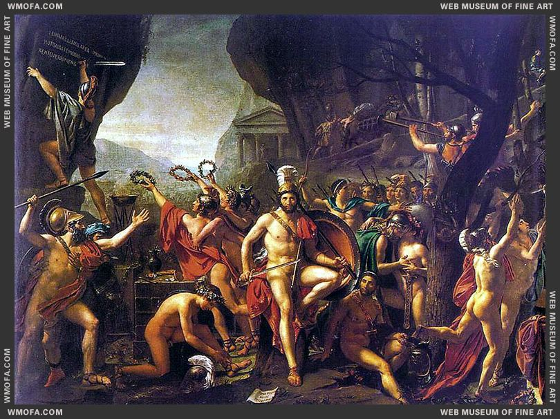 Leonidas at Thermopylae 1814 by David, Jacques-Louis