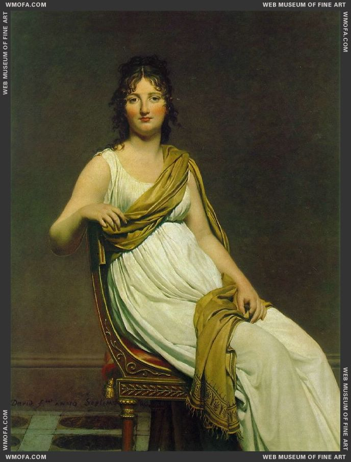 Madame Raymond de Verninac 1798-1799 by David, Jacques-Louis