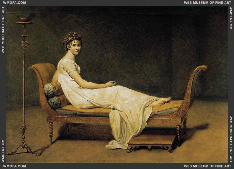 Madame Recamier 1800 by David, Jacques-Louis