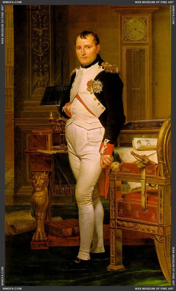 Napoleon in his Study 1812 by David, Jacques-Louis