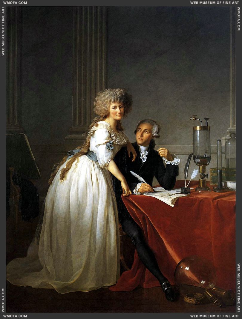 Portrait of Antoine-Laurent and Marie-Anne Lavoisier 1788 by David, Jacques-Louis