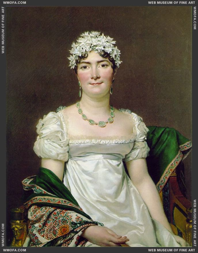 Portrait of Comtesse Daru 1810 by David, Jacques-Louis