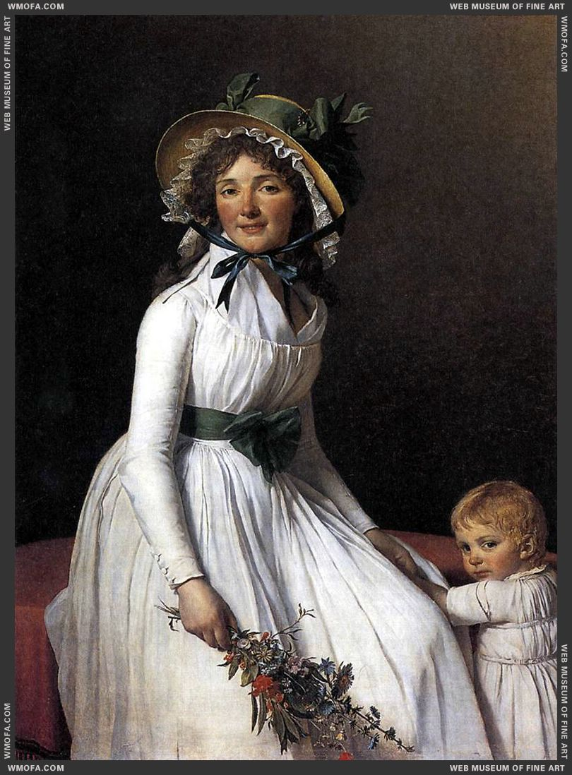 Portrait of Emilie Seriziat and her Son 1795 by David, Jacques-Louis
