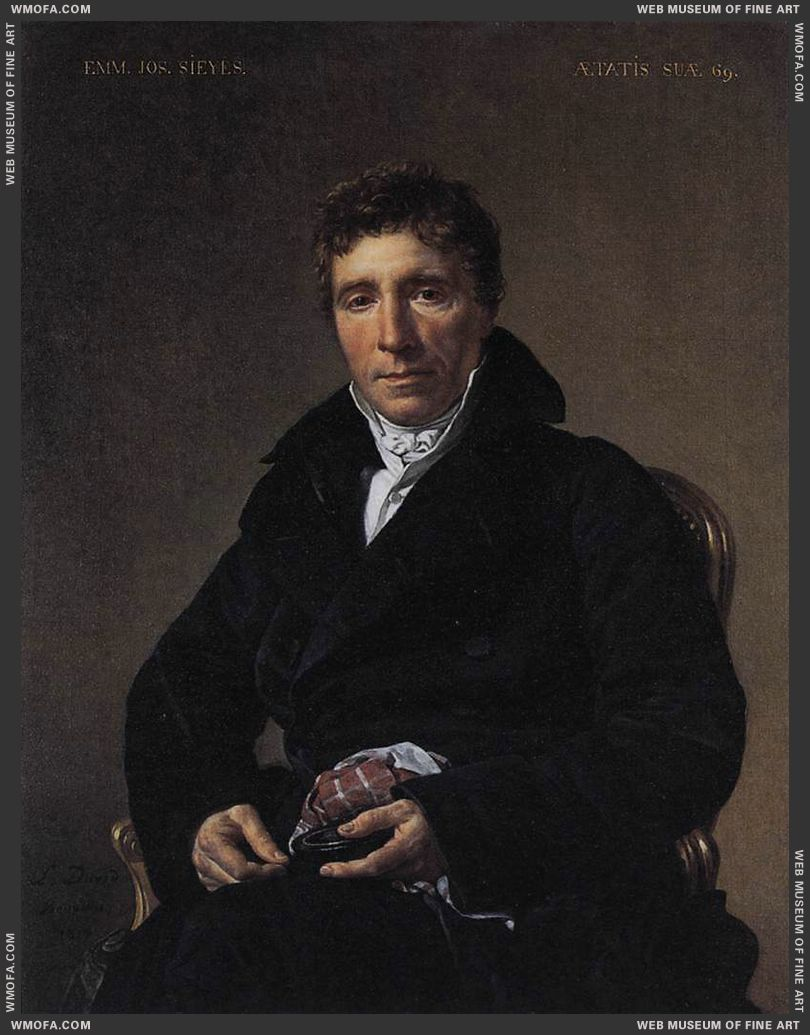 Portrait of Emmanuel-Joseph Sieyes 1817 by David, Jacques-Louis