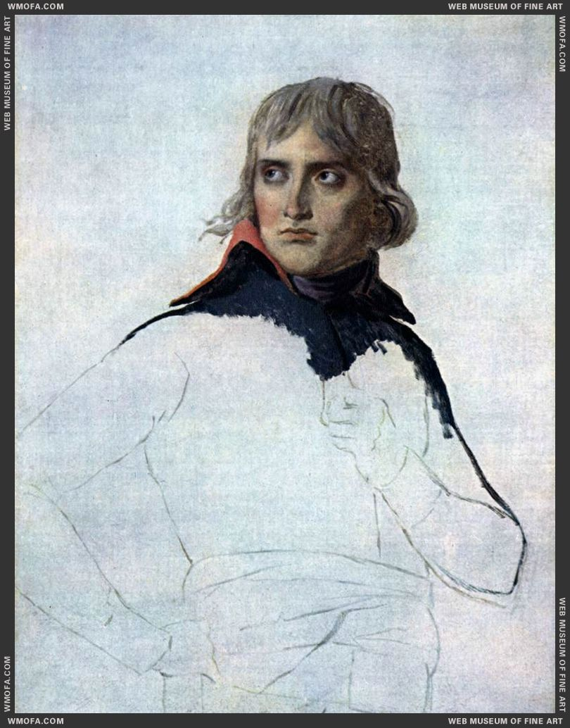 Portrait of General Bonaparte - unfinished - 1797 by David, Jacques-Louis