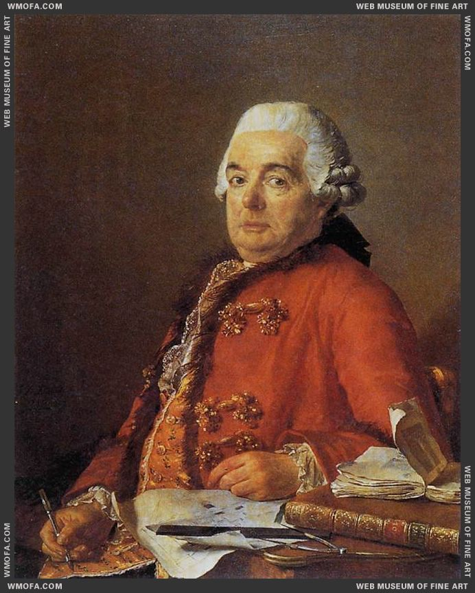 Portrait of Jacques-Francois Desmaisons 1782 by David, Jacques-Louis