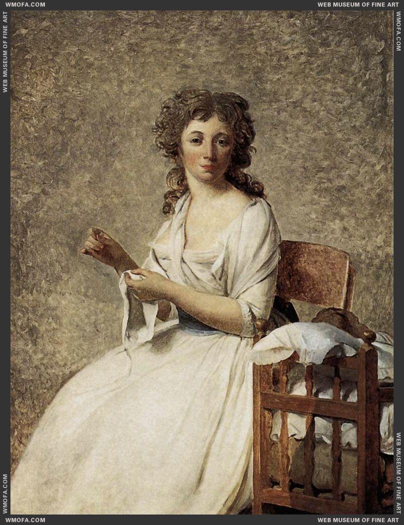 Portrait of Madame Adelaide Pastoret 1791-1792 by David, Jacques-Louis