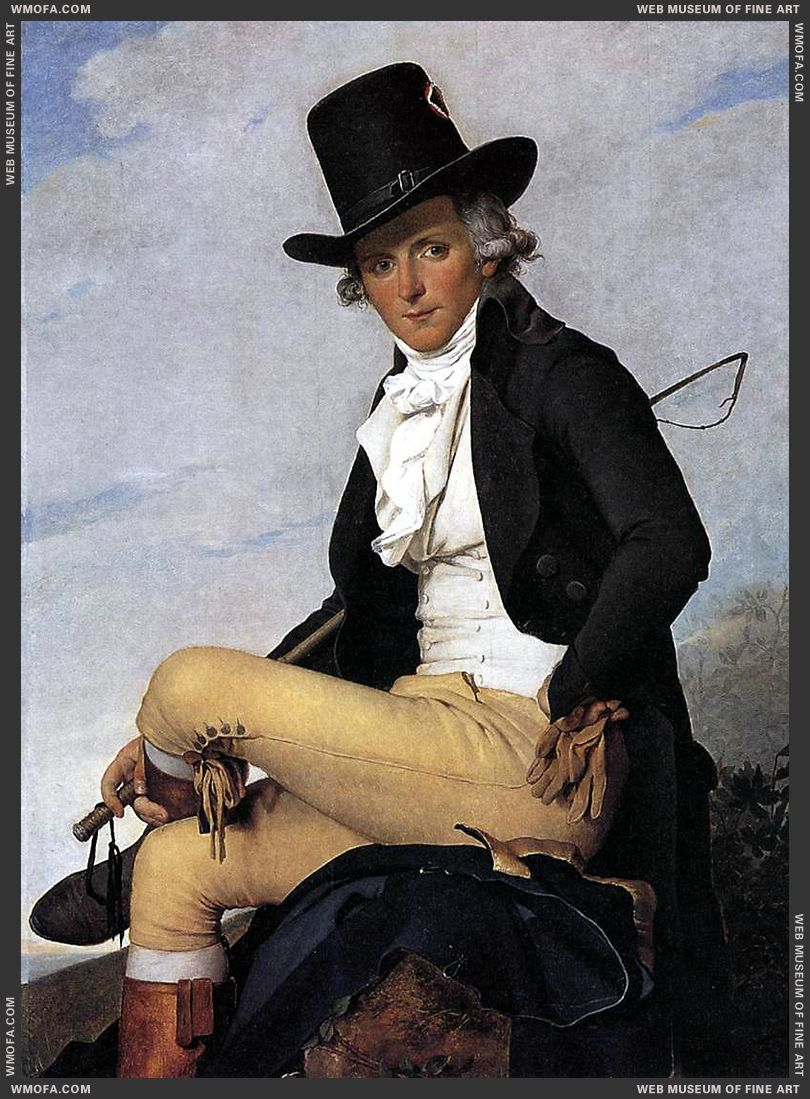 Portrait of Pierre Seriziat 1795 by David, Jacques-Louis