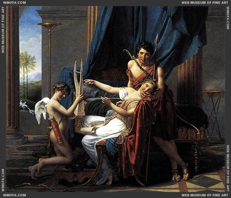 Sappho and Phaon 1809 by David, Jacques-Louis