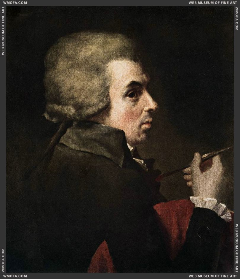 Self-Portrait c1790 by David, Jacques-Louis