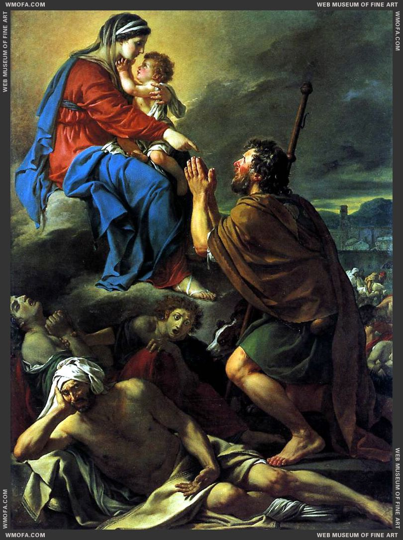 St Roch Asking the Virgin Mary to Heal Victims of the Plague 1780 by David, Jacques-Louis
