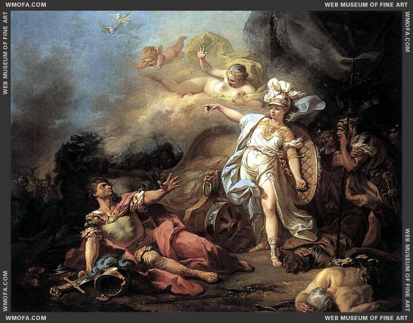 The Combat of Mars and Minerva 1771 by David, Jacques-Louis
