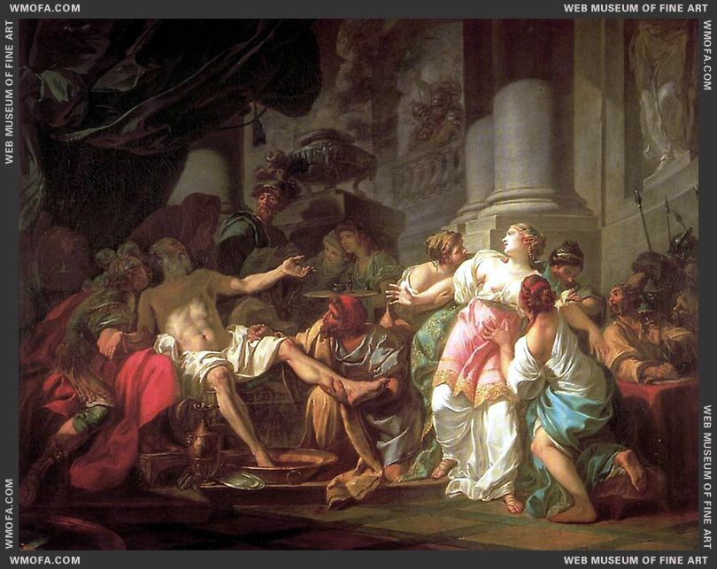The Death of Seneca 1773 by David, Jacques-Louis