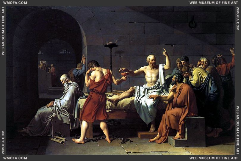 The Death of Socrates 1787 by David, Jacques-Louis