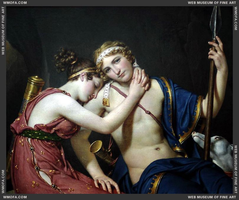 The Farewell of Telemachus and Eucharis 1818 by David, Jacques-Louis