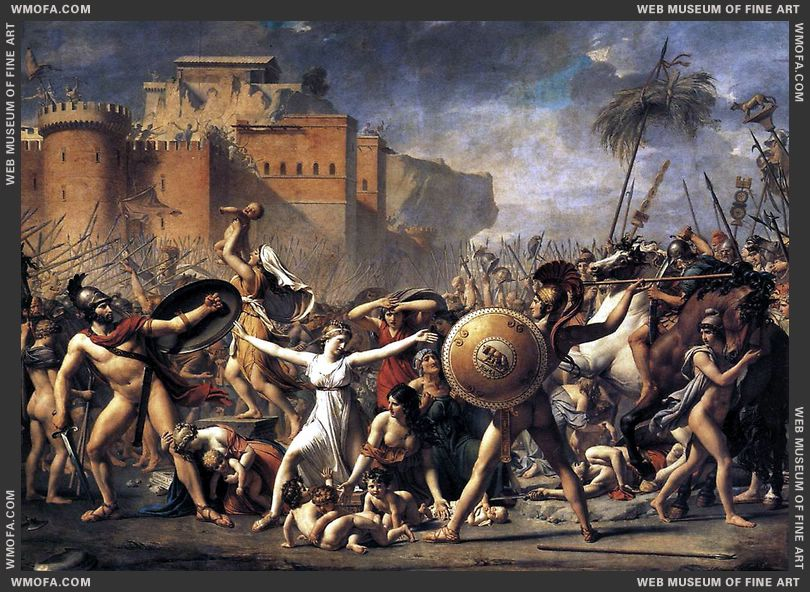 The Intervention of the Sabine Women 1799 by David, Jacques-Louis