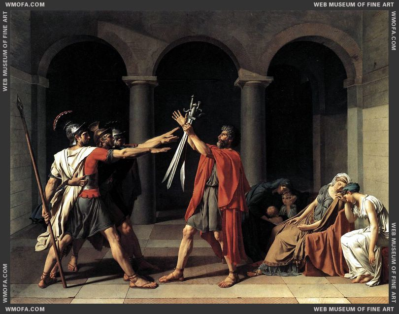 The Oath of the Horatii 1784 by David, Jacques-Louis