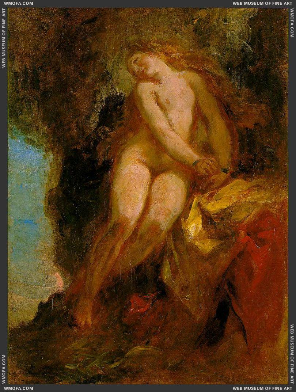 Andromeda c1852 by Delacroix, Eugene