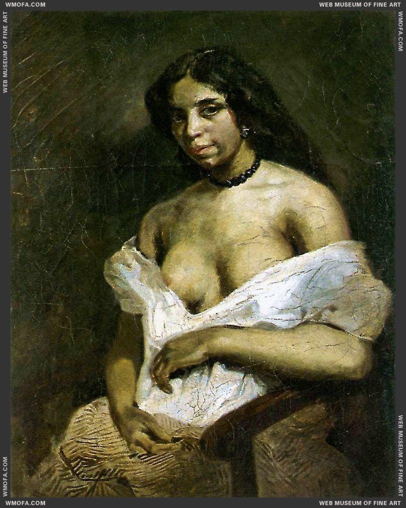 Aspasia c1824 by Delacroix, Eugene