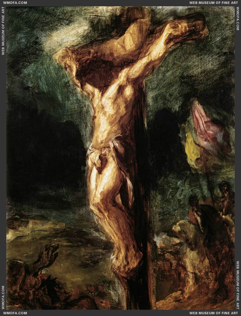 Christ on the Cross - sketch - 1845 by Delacroix, Eugene