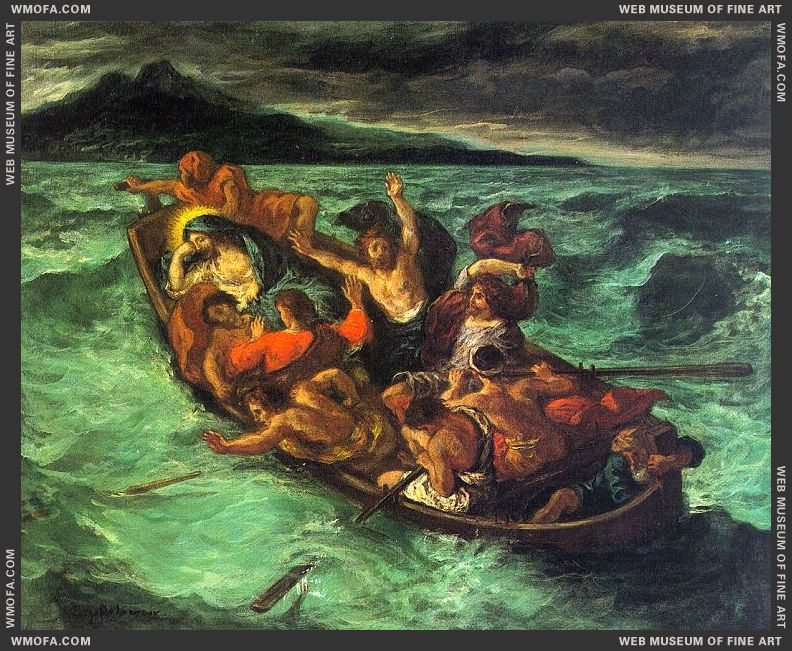 Christ on the Lake of Gennezaret by Delacroix, Eugene