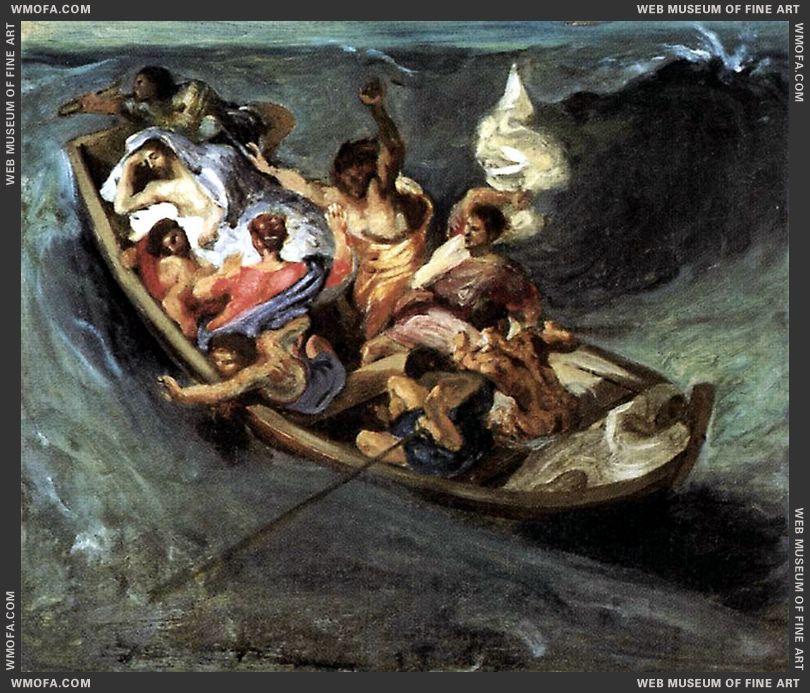 Christ on the Lake of Gennezaret - sketch - c1841 by Delacroix, Eugene