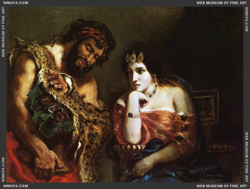 Cleopatra and the Peasant 1838 by Delacroix, Eugene