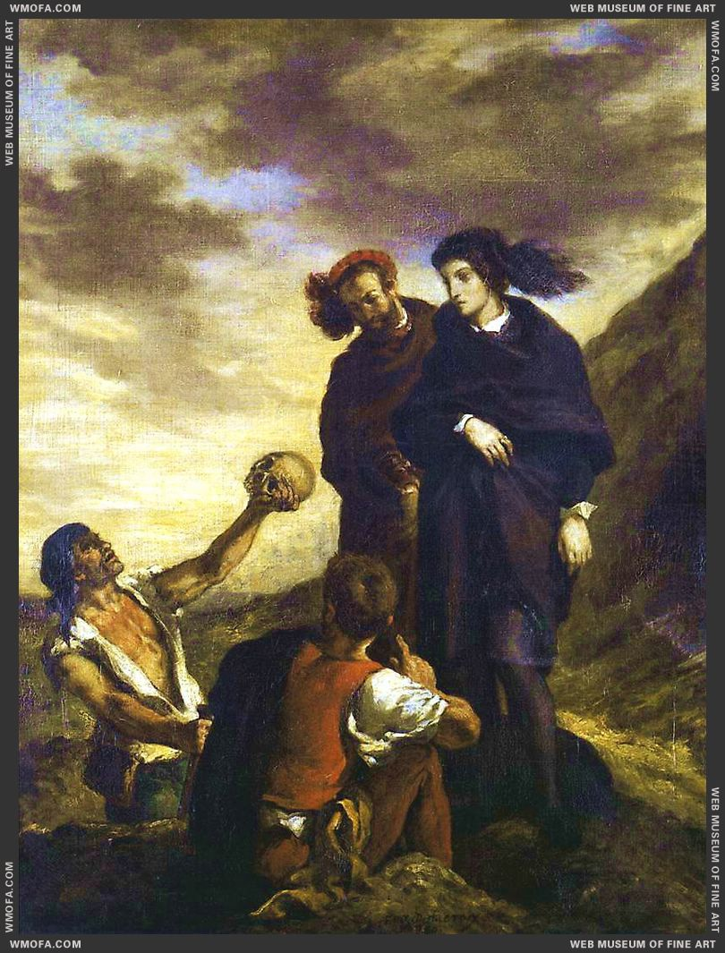 Hamlet and Horatio in the Graveyard 1839 by Delacroix, Eugene