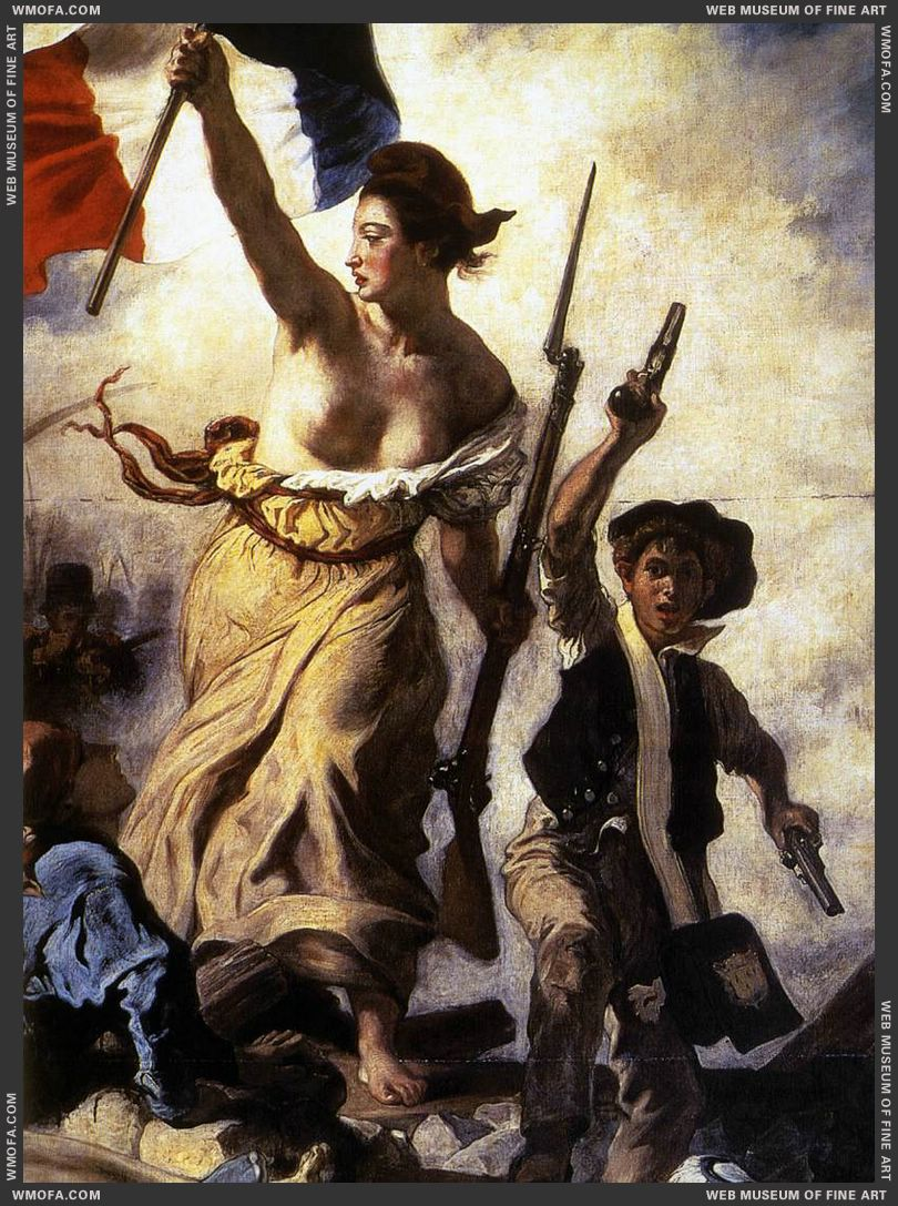 Liberty Leading the People - detail - 1830 by Delacroix, Eugene