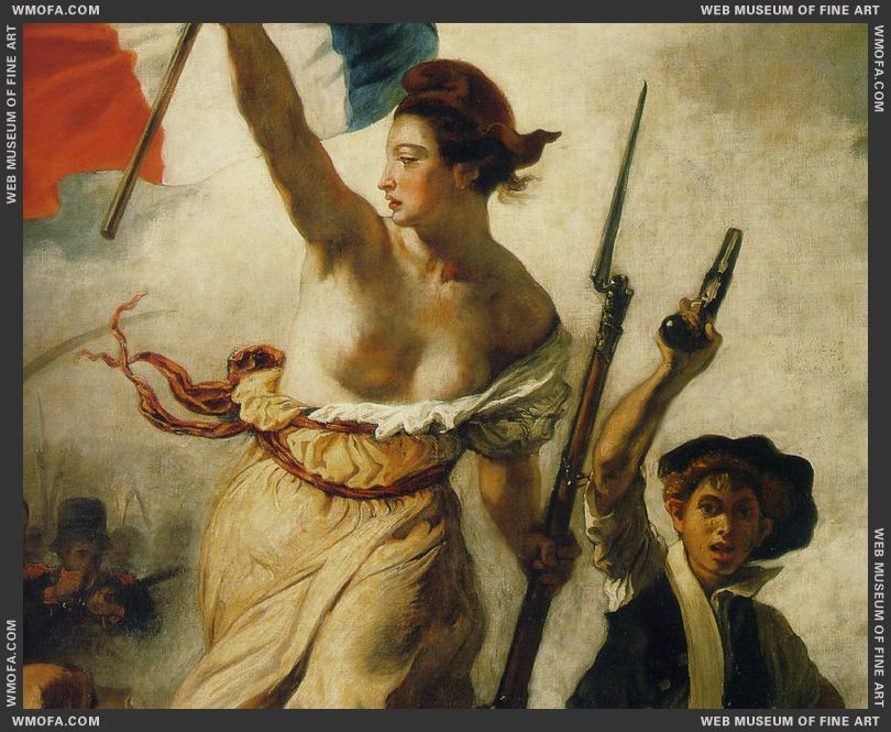 Liberty Leading the People - detail Liberty - 1830 by Delacroix, Eugene