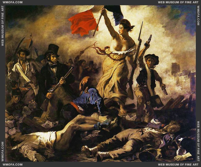 Liberty Leading the People 28th July 1830 1830 by Delacroix, Eugene
