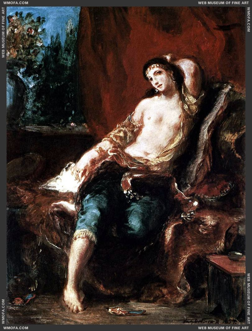 Odalisque 1857 by Delacroix, Eugene
