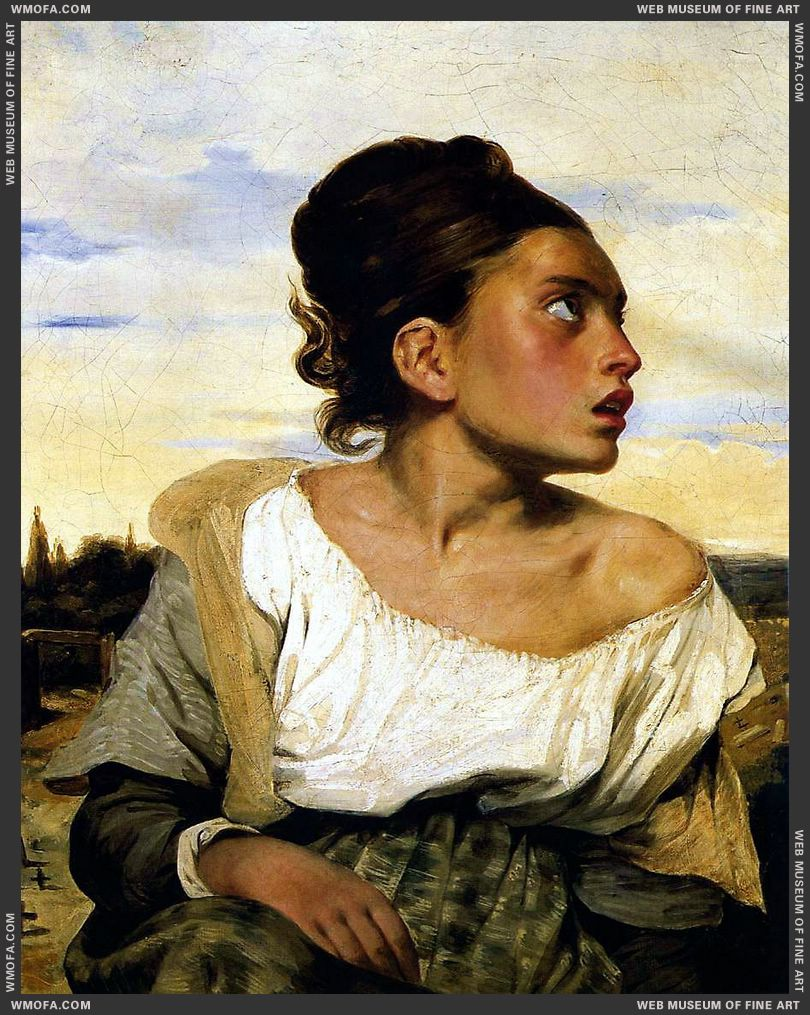 Orphan Girl at the Cemetery 1824 by Delacroix, Eugene