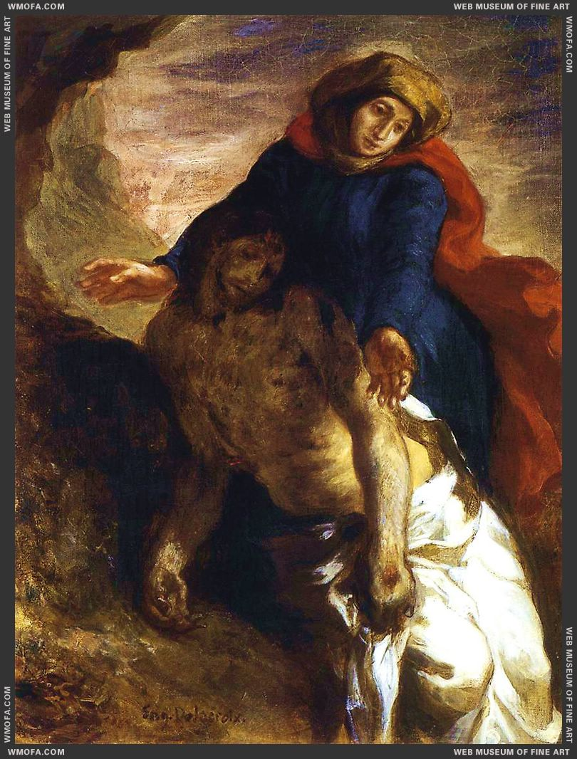 Pieta c1850 by Delacroix, Eugene