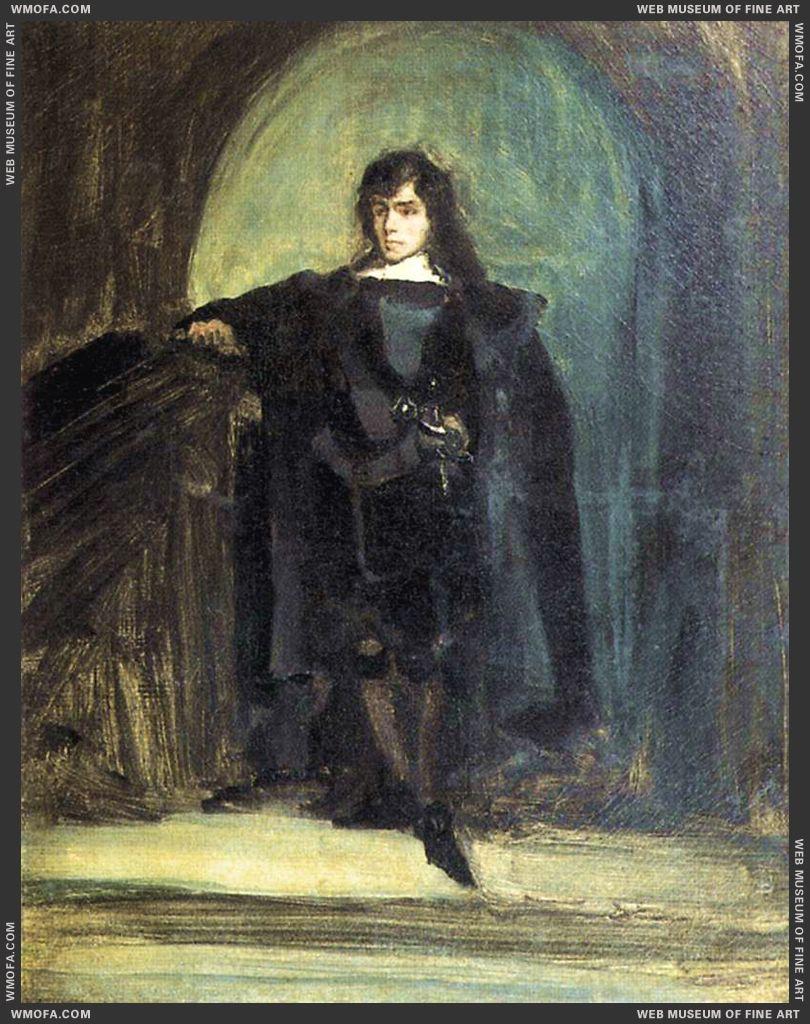 Self-Portrait as Ravenswood c1821 by Delacroix, Eugene