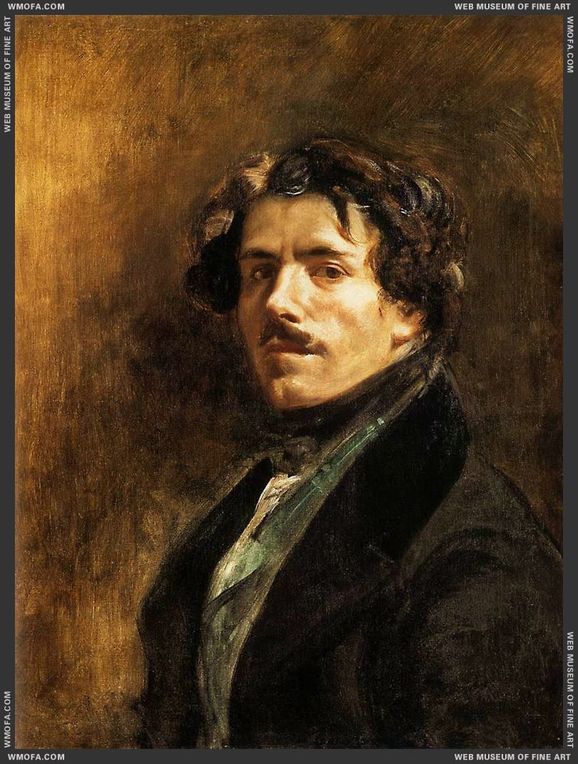 Self-Portrait c1837 by Delacroix, Eugene