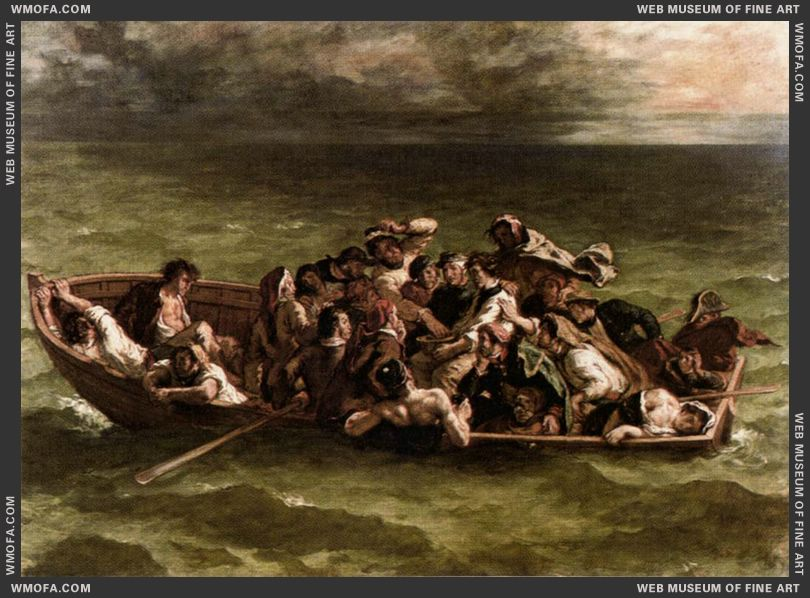 Shipwreck of Don Juan 1840 by Delacroix, Eugene