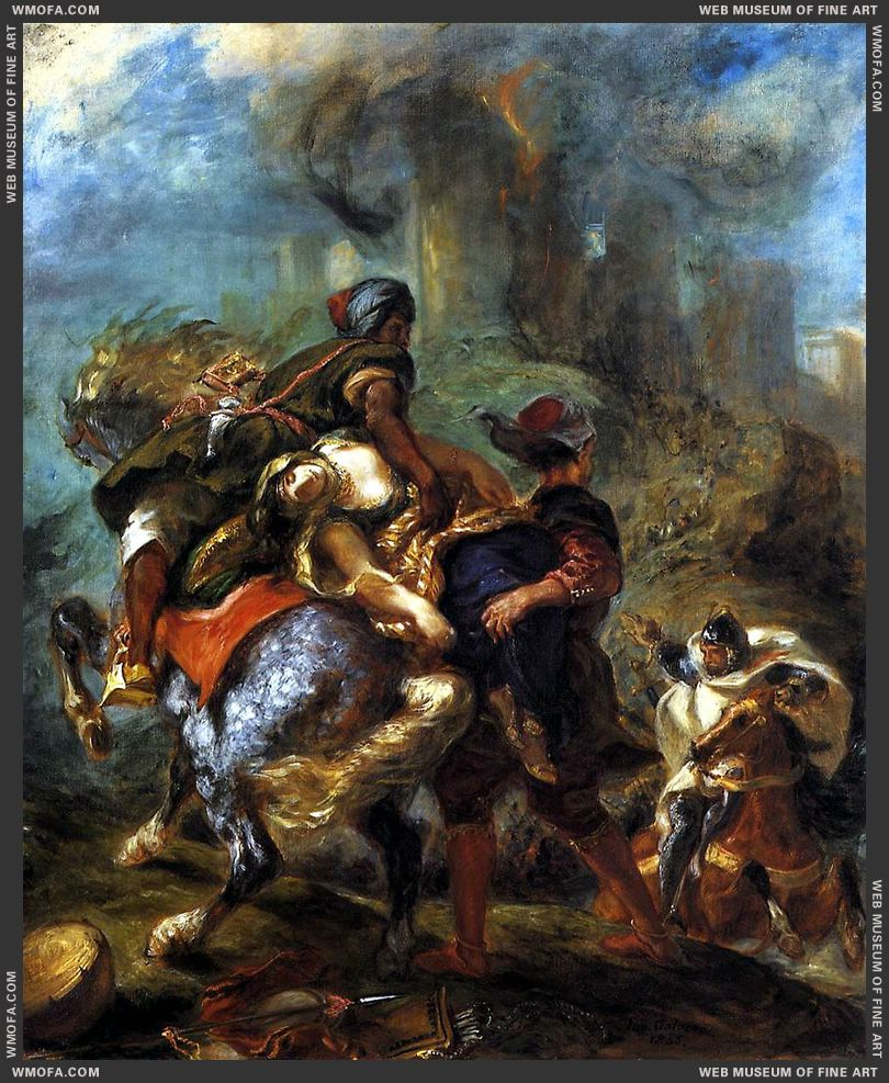 The Abduction of Rebecca 1846 by Delacroix, Eugene