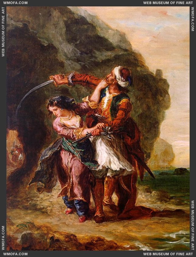 The Bride of Abydos 1857 by Delacroix, Eugene