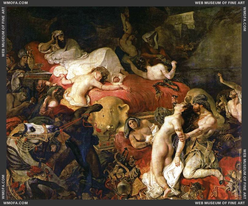 The Death of Sardanapalus 1827 by Delacroix, Eugene