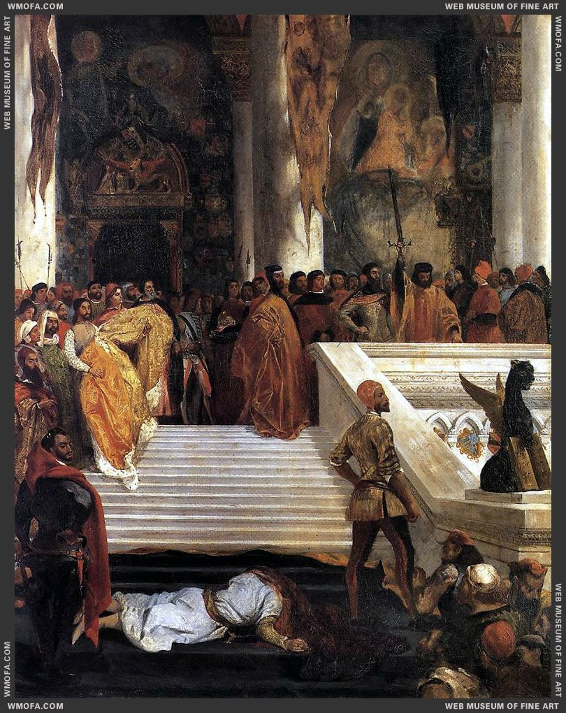 The Execution of Doge Marino Faliero 1825-1826 by Delacroix, Eugene