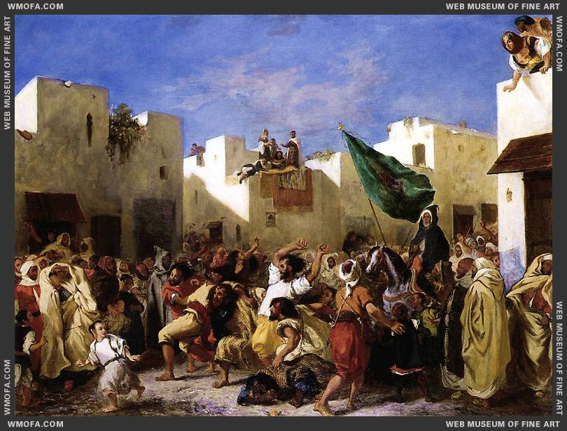 The Fanatics of Tangier 1837-1838 by Delacroix, Eugene
