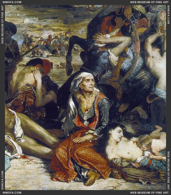 The Massacre at Chios - detail - 1824 by Delacroix, Eugene