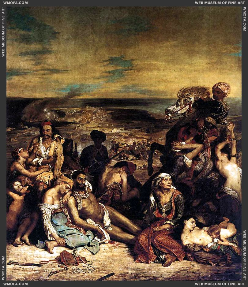 The Massacre at Chios 1824 by Delacroix, Eugene